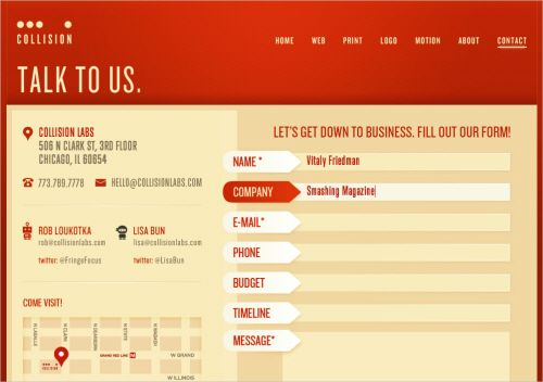 useful ideas and guidelines for good web form design - Great Website Design Ideas