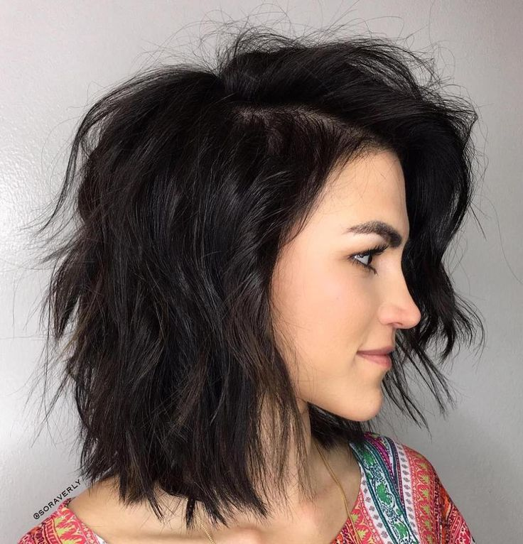 Brunette Hairstyles New Brunette Sideparted Messy Bob  Short Hairstyle  Pinterest