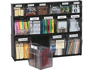 Deflecto Tilt Bin Multipurpose Storage And Organization System How Awesome Would This Be For Hair Stuff Not Just Office Supplies