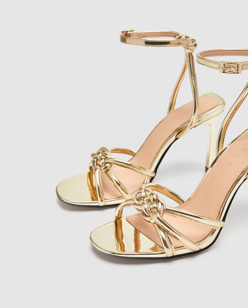 222bf01bf7e HIGH-HEEL SANDALS WITH BRAIDED DETAIL-NEW IN-WOMAN