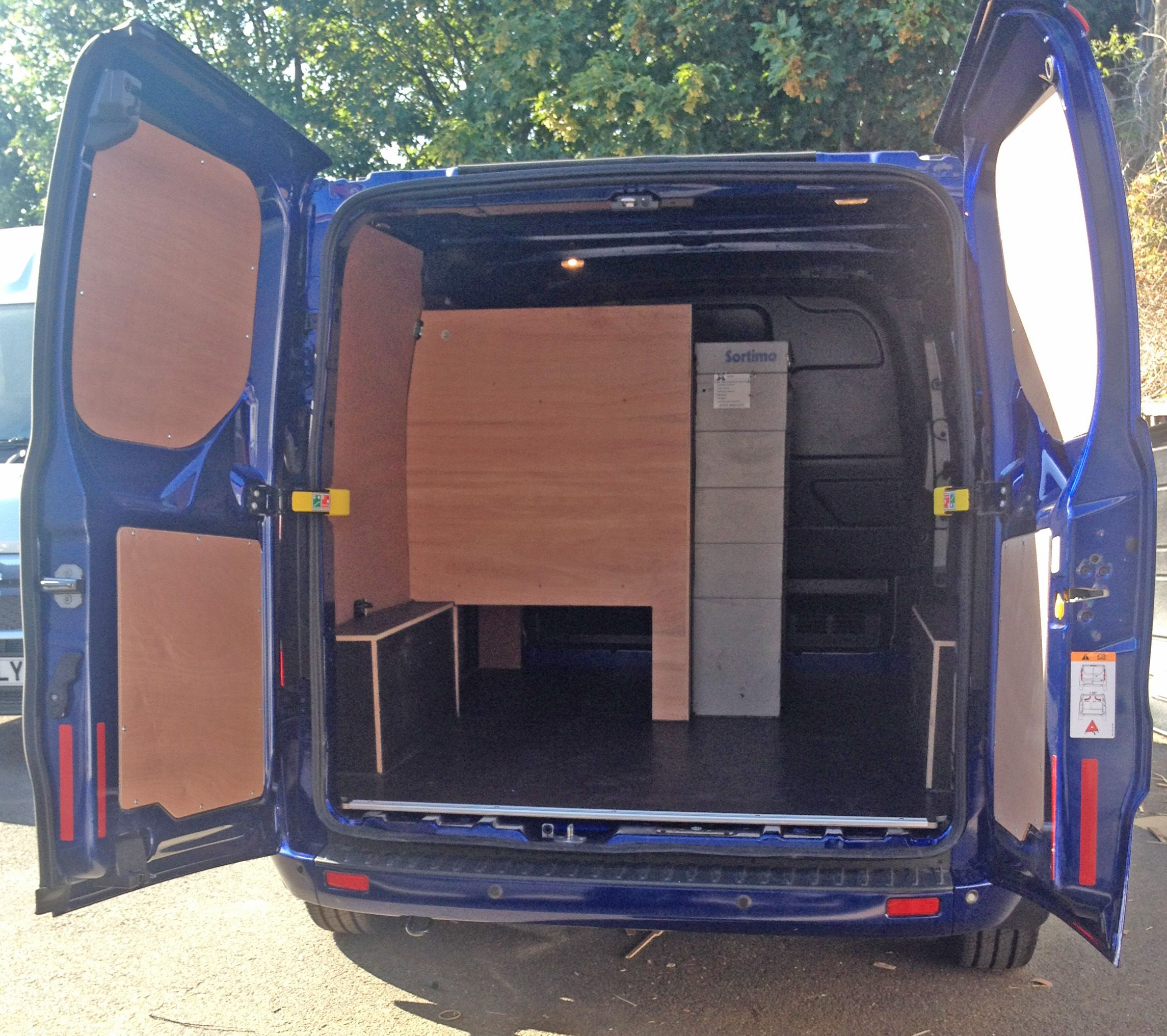 Ply-lining and custom racking, installed into a Ford Transit Custom. If you need something specific for your vehicle, including racking we can offer you a bespoke service, cutting the kit to your needs. Visit us at www.vehicle-accessories.net.