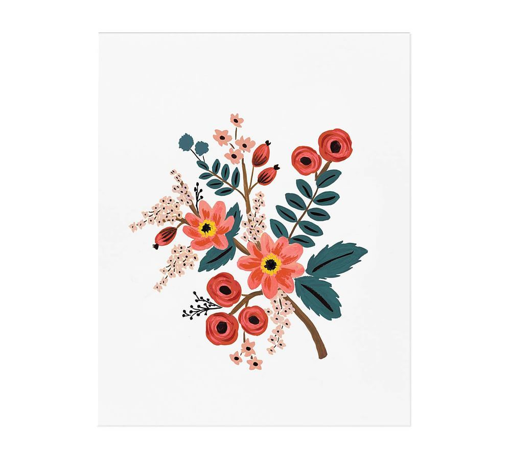 Coral Botanical by Rifle Paper Co. 16 x 20
