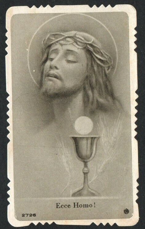 Holy card antique de Jesus andactsbild santino image pieuse estampa