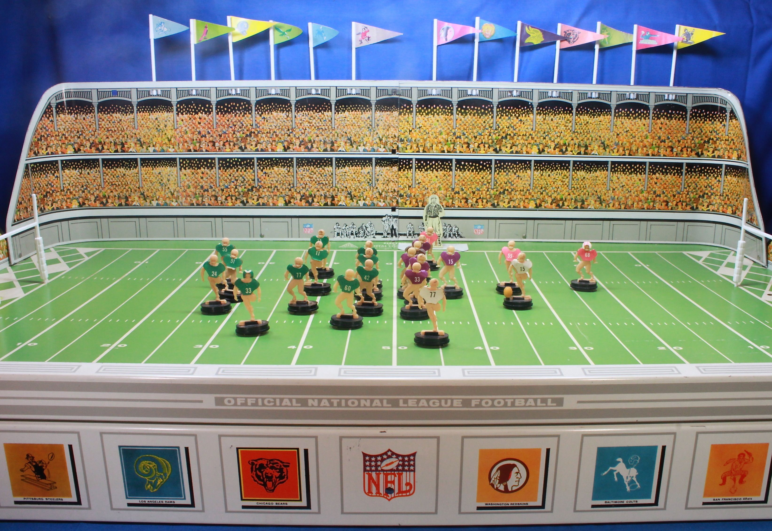 1961 gotham nfl g1500 electric football game electric