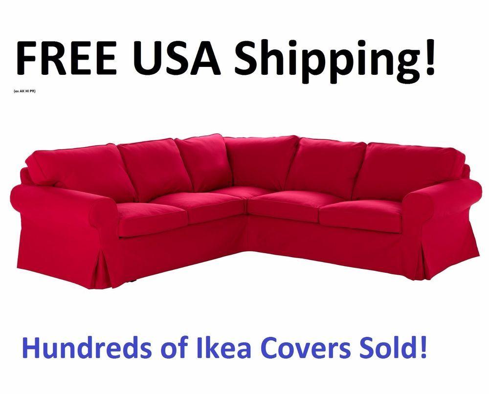 Ikea Ektorp4 Seat Corner Sectional Sofa 2 2 Cover Slipcover Idemo Red 901 667 60 Original New In Box Idemo R Corner Sectional Sofa Sectional Sofa Slipcovers