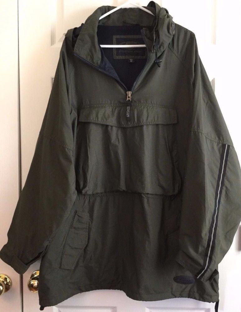 Structure Sport Windbreaker Jacket Pullover Dark Olive