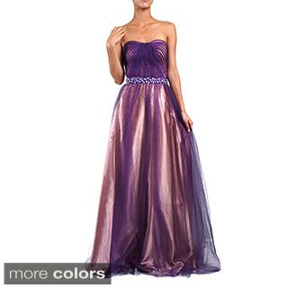Shop for DFI Women's Jewel Waist Evening Gown. Get free delivery at…