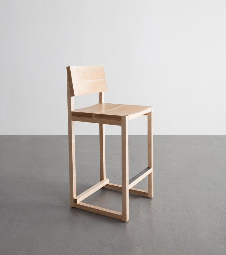 Sq Counter Stool Maple Hardwood Available In Bar Height Counter Stools Upholstered Bar Stools Counter Stools Backless