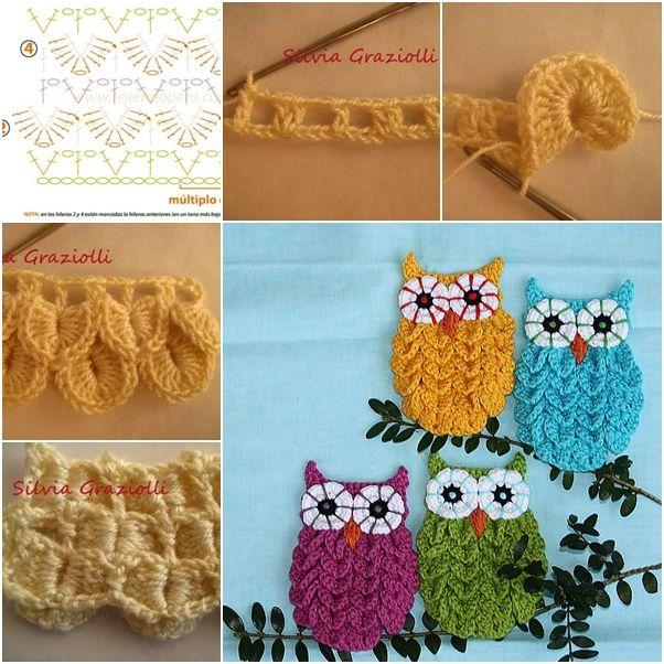 DIY Crochet Crocodile Stitch Owl Pattern Free | Tejido, Ganchillo y ...