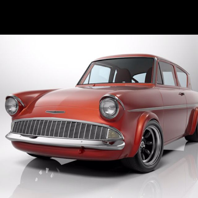 Ford Anglia, Classic Cars, Retro