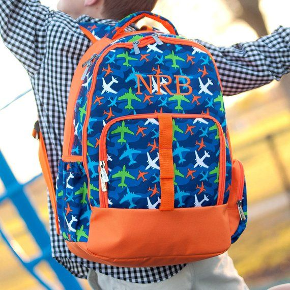 Airplane Backpack for Boys Personalized Bag 584b77364065d