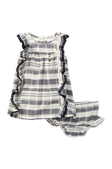 jessica simpson  slub textured dress  bloomer set baby