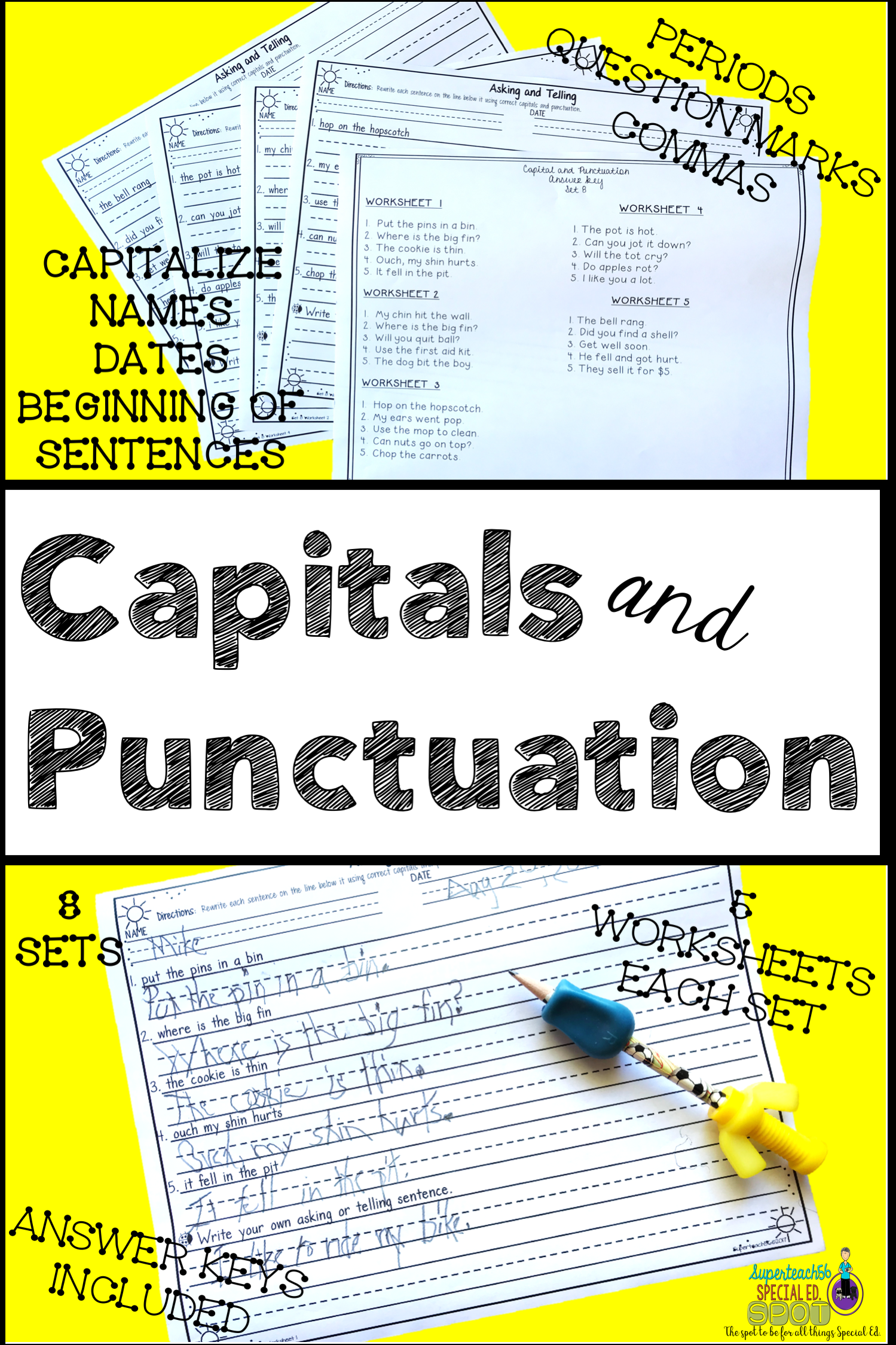 Core Curriculum Capitals And Punctuation Bundle