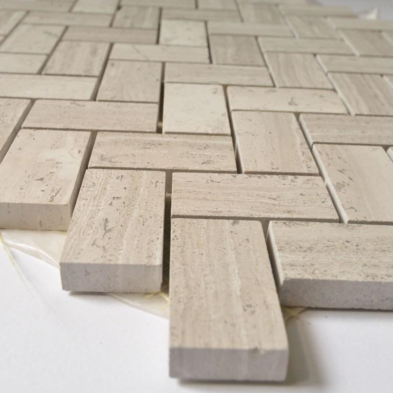 White Oak Marble Mosaic Tile 1x2 Mini Herringbone Pattern Polished In 2020 Marble Mosaic Tiles Marble Mosaic Beige Marble