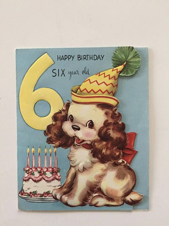 Old Birrthday Cards Birthday Cards Cards for Kids Three Cards Vintage Children/'s Greeting Cards