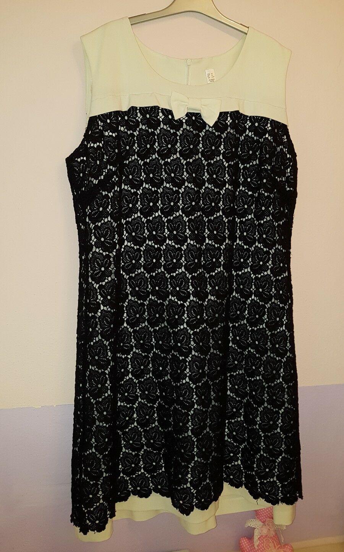 Kleider Schwarz Weiß Große Größen