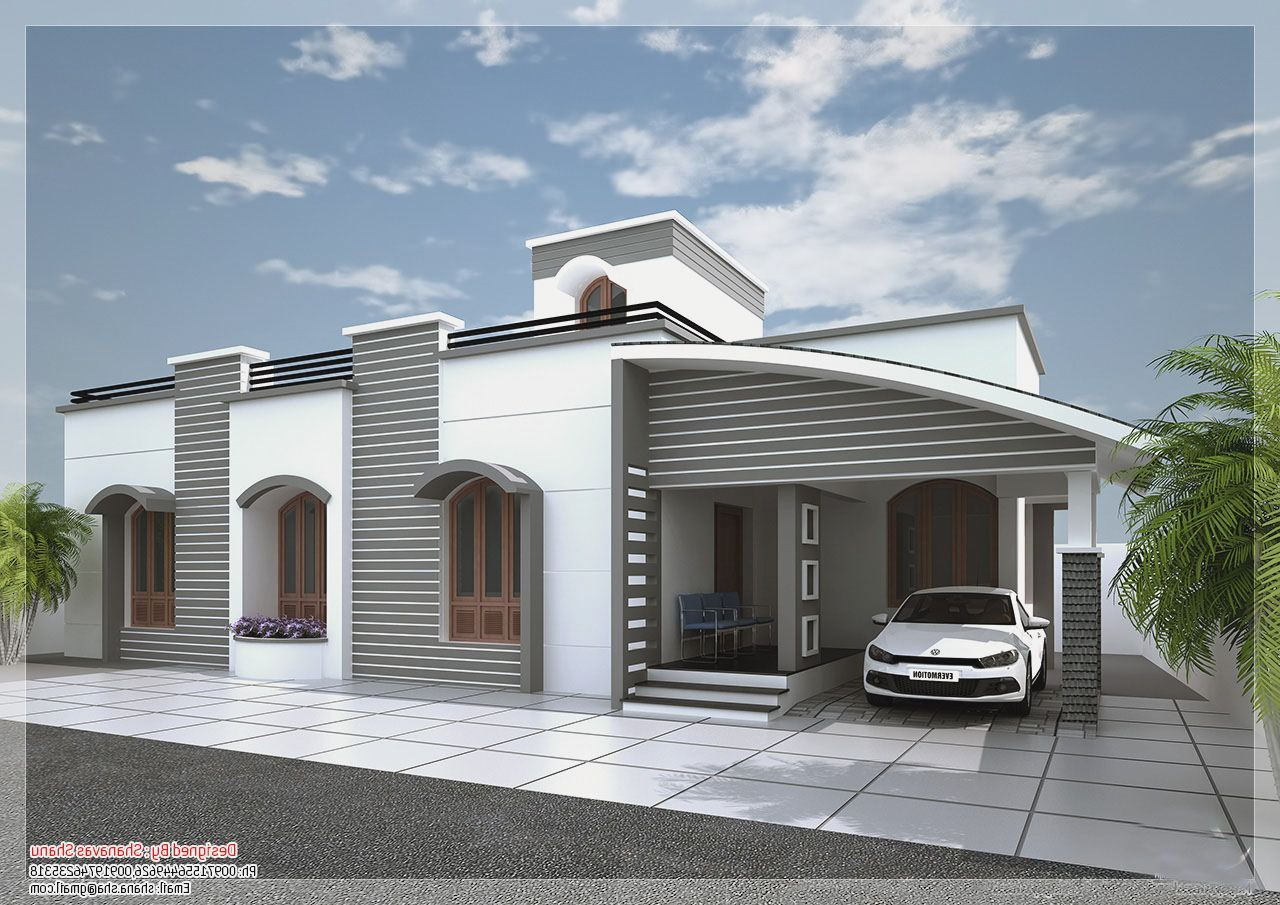 Small Single Story Modern House Plans Modern Home Design Kerala House Design New House Plans Modern House Plans