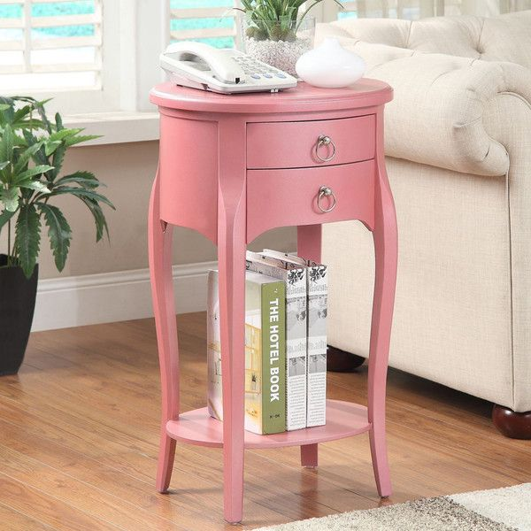 Display decorations or store personal items with this pretty pink ...