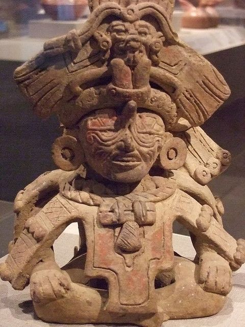 Old Man God 5F Mexico Monte Alban II Zapotec culture 350-600 CE earthenware by mharrsch, via Flickr