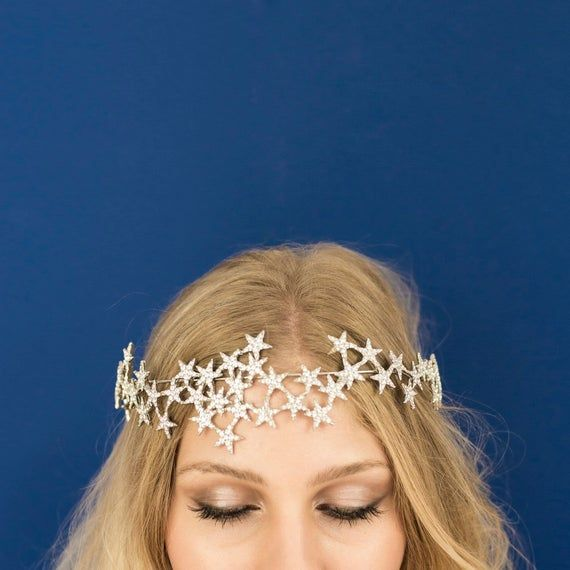 Star Halo Crown Headband Bridal Party Star Crown #crownheadband