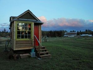 Tiny house views on Whidbey Island
