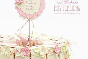 Celebrando con creatividad! Delicada Torta de Papel para...