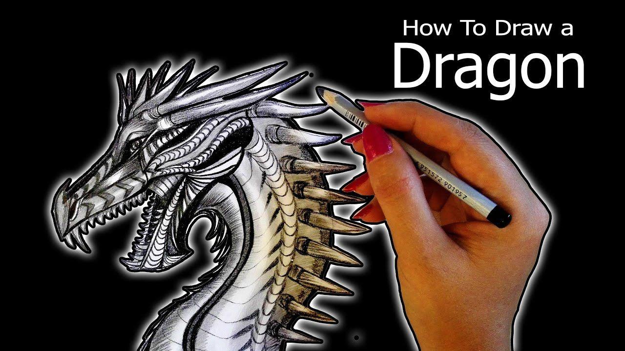 How To Draw A Dragon , drawing with pencil آموزش طراحی از