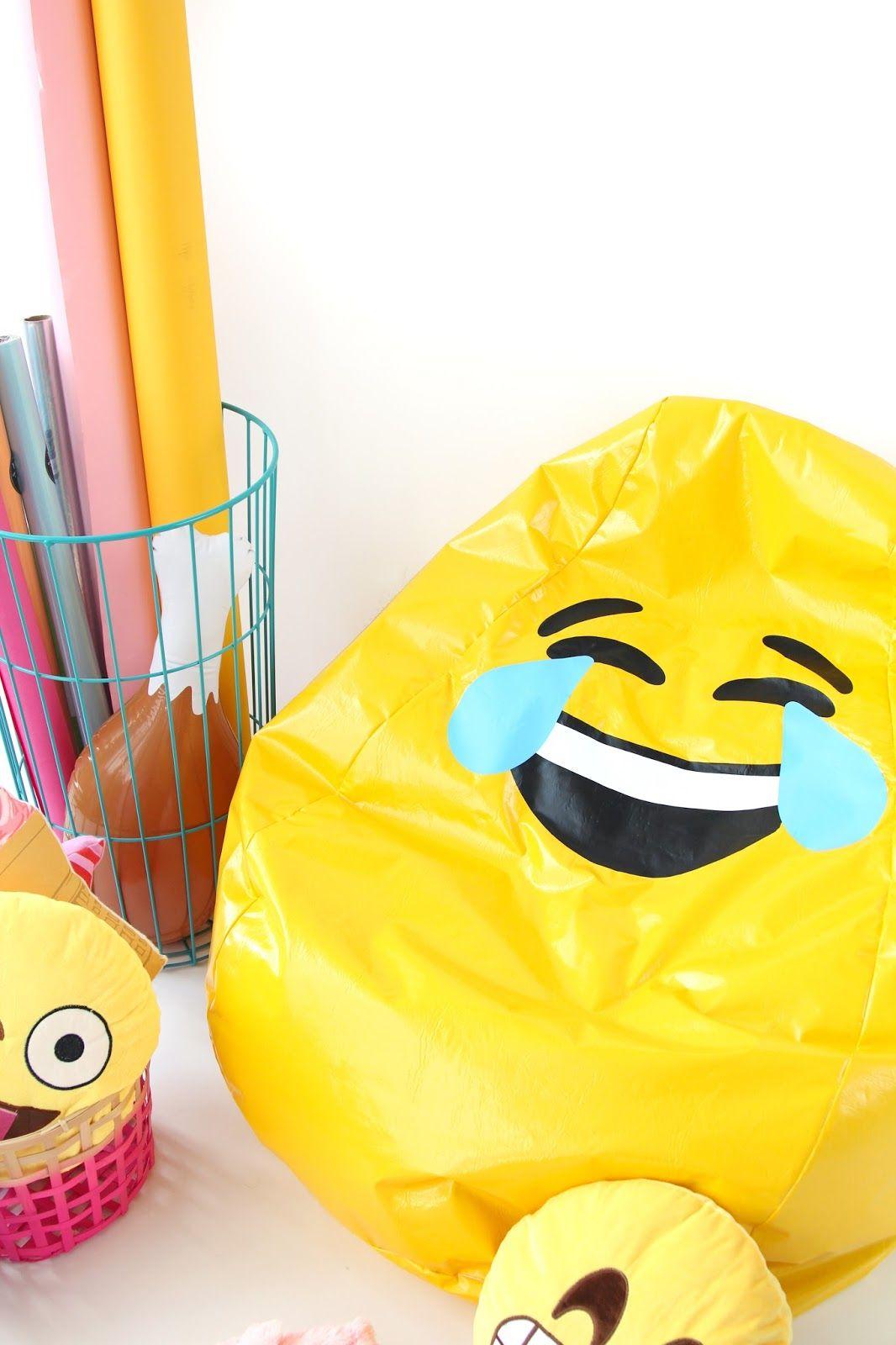 Diy Emoji Bean Bag Chair Emoji Bean Bag Bean Bag Chair Yellow Bean Bags