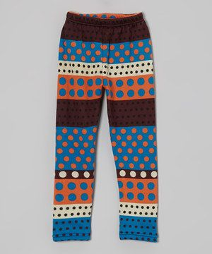 Weave a hint of whimsy into a little one's look with these lively leggings. Bright colors and cheery polka dots give this pull-on pair plenty of spunky appeal.