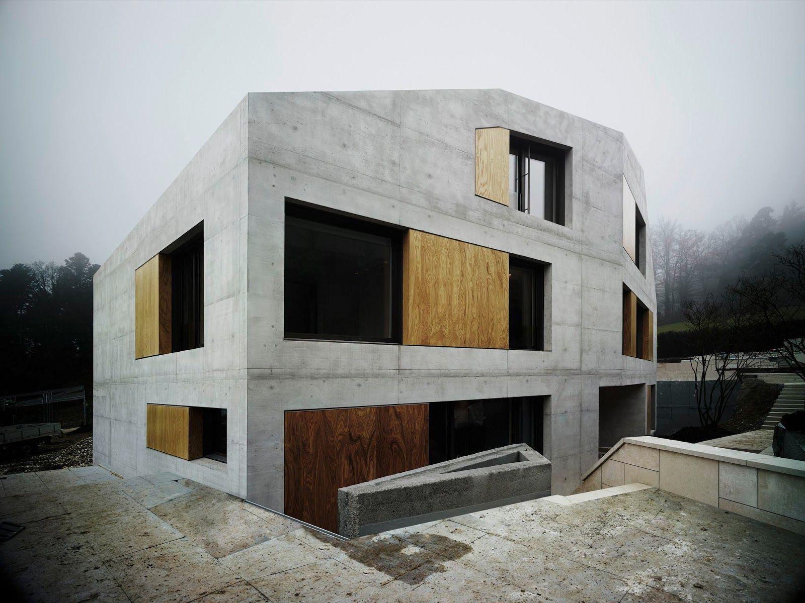 Fassaden architektur fenster studium haus zürich moderne häuser villen schweizer architekten