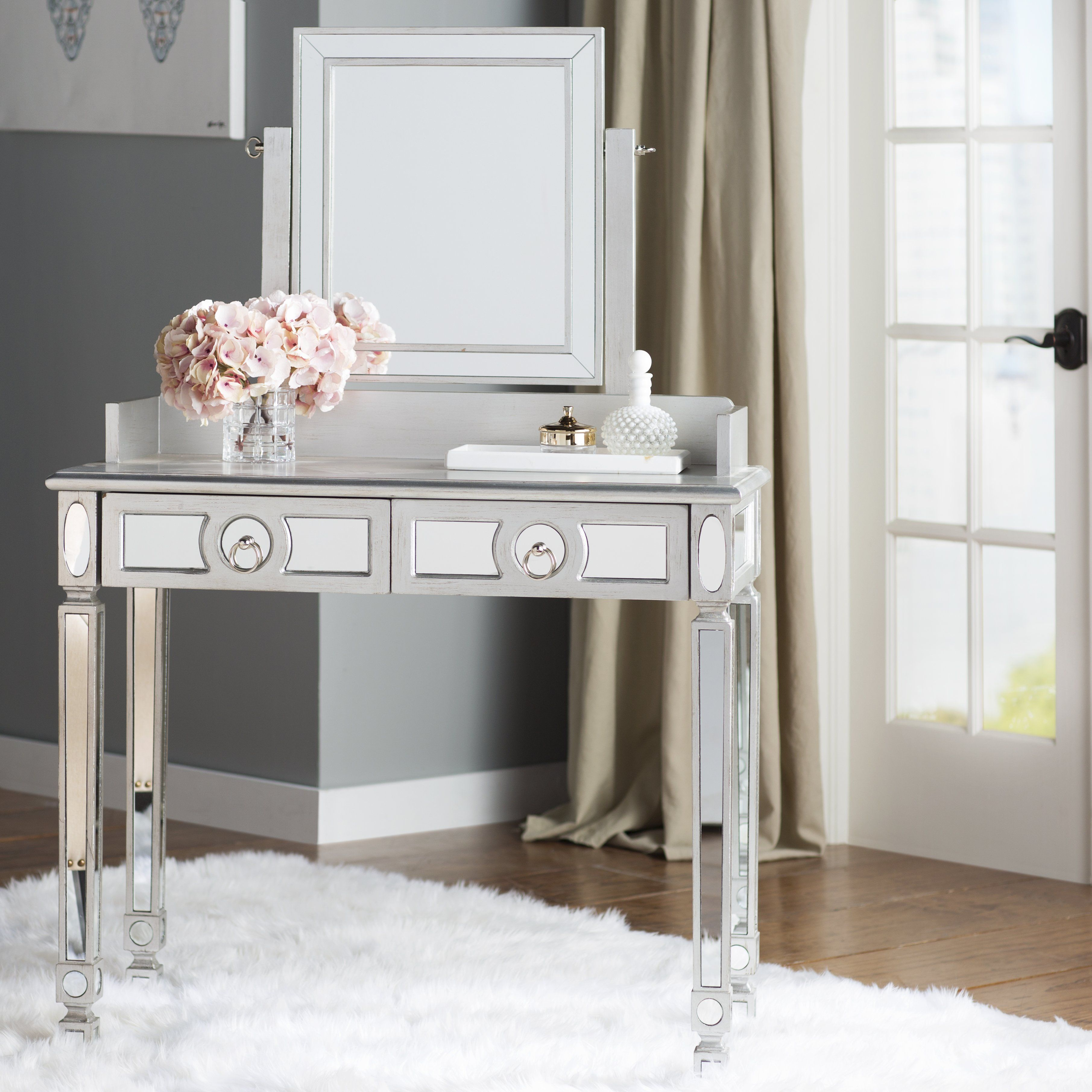 how paint ashley glossy also around and serena vanity it actaully lily modern actually more makeup loved the space new love classic mirror bamboo with ojai designed white i motif silhouette makes