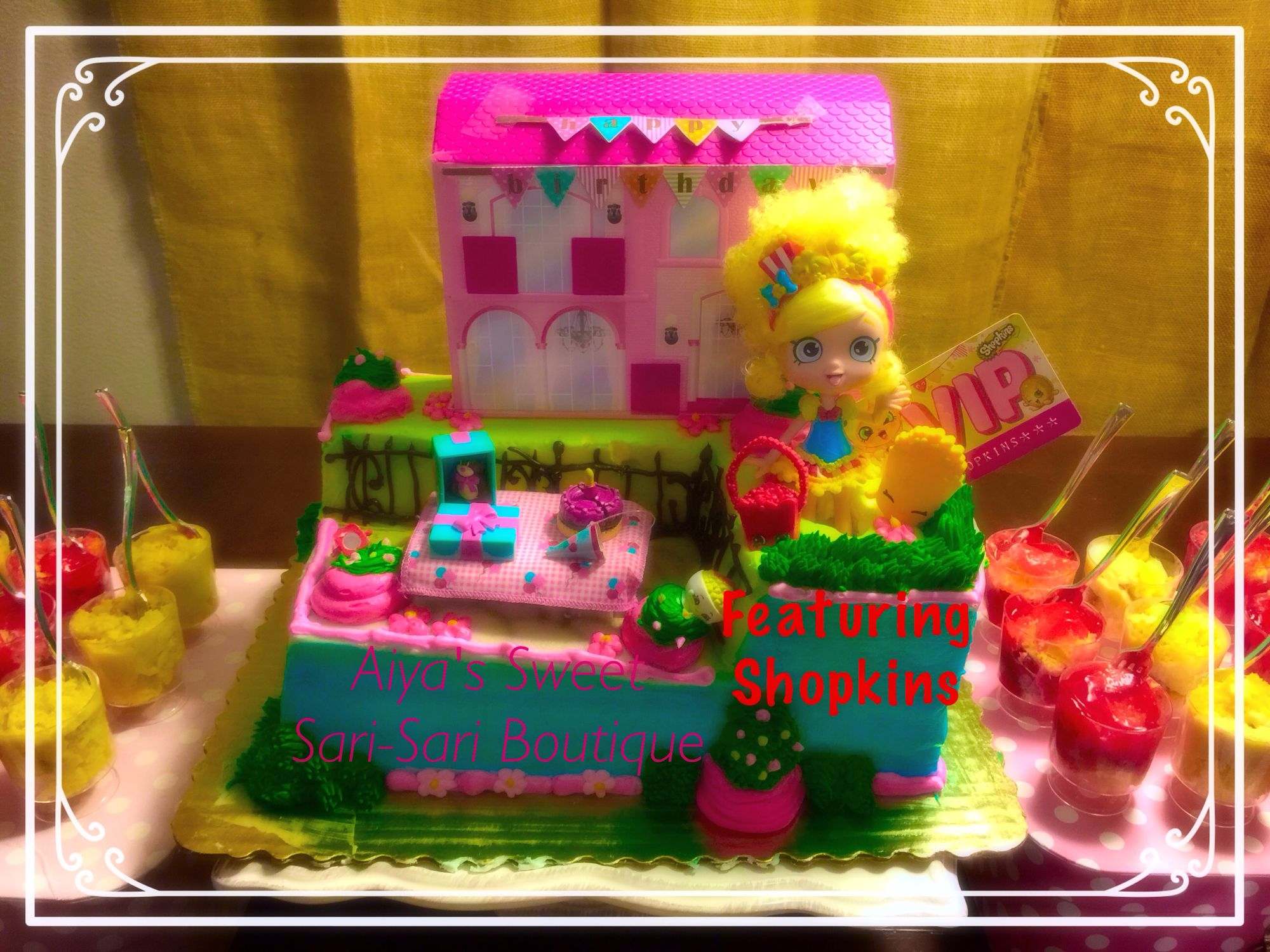 Shopkins cake DIY Purchase a Barbie hello kitty etc cake from
