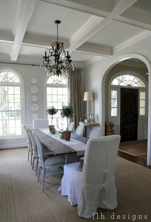 Llh Designs Bravehearted Beauty Our Houston Home Home Decor Dining Room Design Interior #wickham #gray #living #room