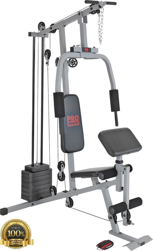 Multi Gym Equipment Home Workout Station Bench Cable Pull Curl Station Butterfly