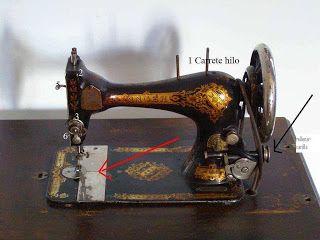 Enhebrar una máquina de coser singer antigua | คгtє ๔є lค