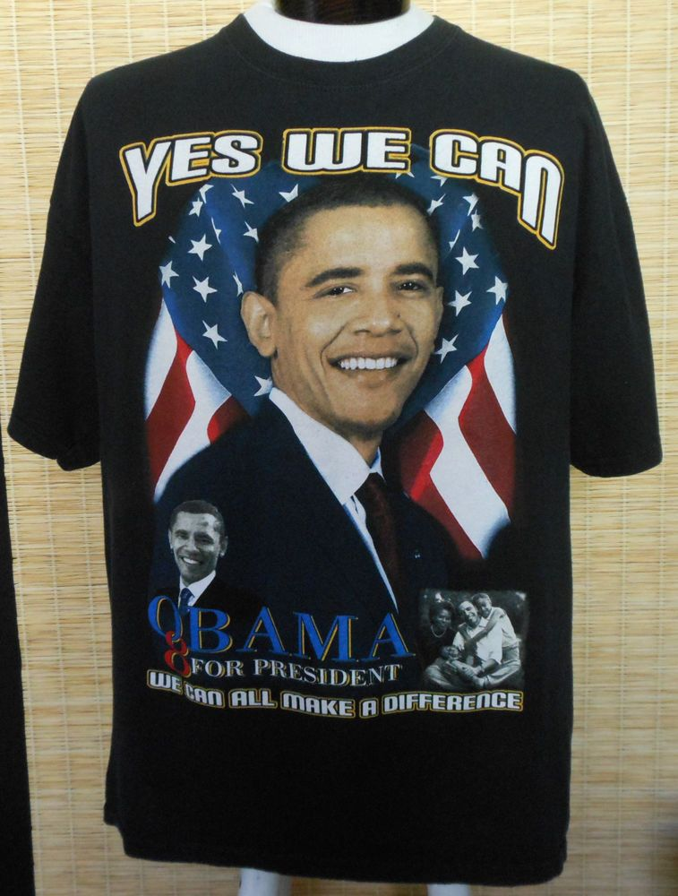 7283aac7c48958 2008 Barack Obama Yes We Can Change Tee Size Large to XL Rap Hip Hop   fashion  clothing  shoes  accessories  mensclothing  shirts (ebay link)
