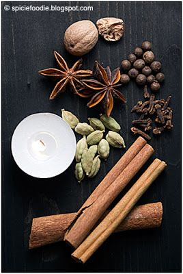 Your ingredients: 12 whole cloves 1 or 2 star anise 1 cinnamon stick 6 all  spice 3 whole cardamom pods 1 small piece of nutmeg dried orange/lemon peel  or ...
