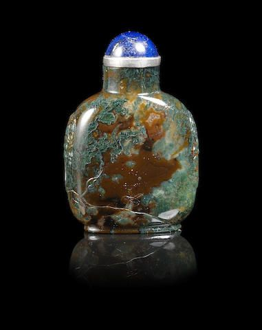 A moss agate snuff bottle 19th century