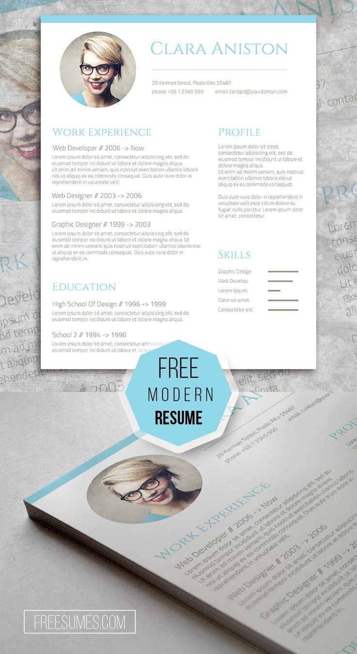 Simple Snapshot  The Freebie Photo Resume Template  Template And
