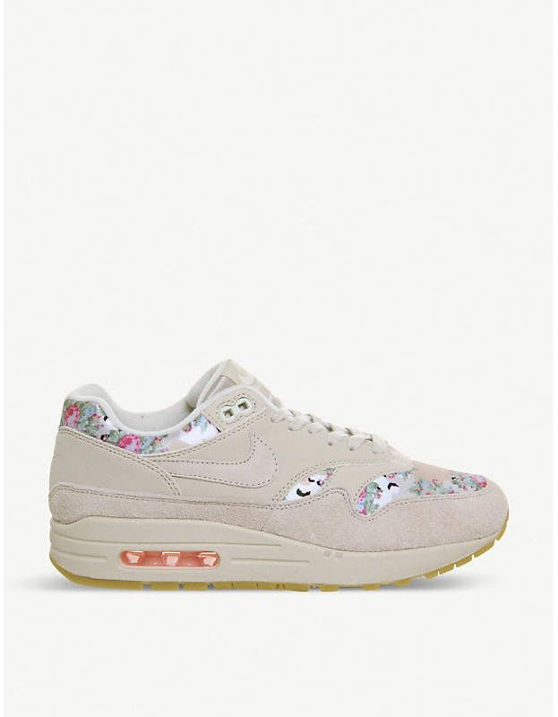 NIKE Air Max 1 floral print leather trainers | Nike leather