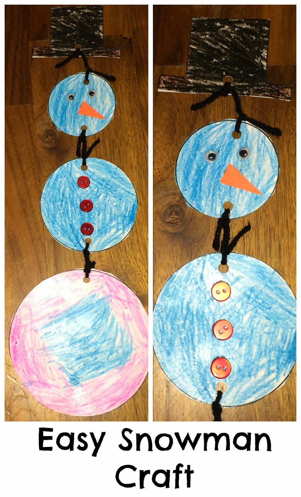 Easy Winter Kids Crafts That Anyone Can Make: Easy Winter Crafts For Preschoolers- Easy Snowman Craft