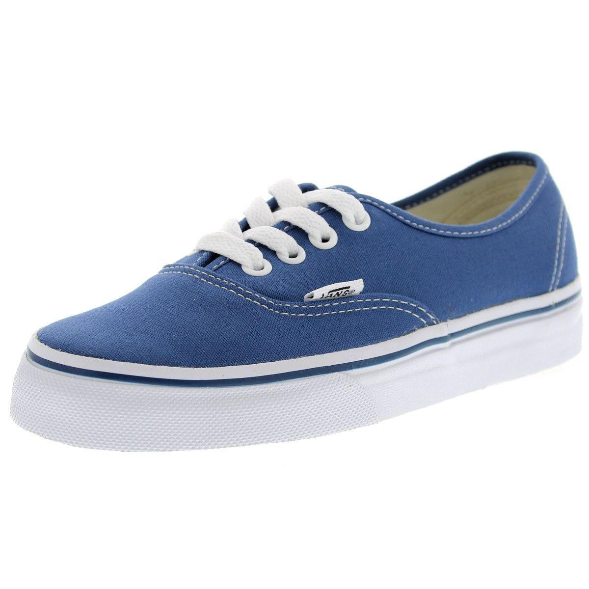 Vans - Authentic Low Canvas Skate Sneakers (Big Kid) - Navy