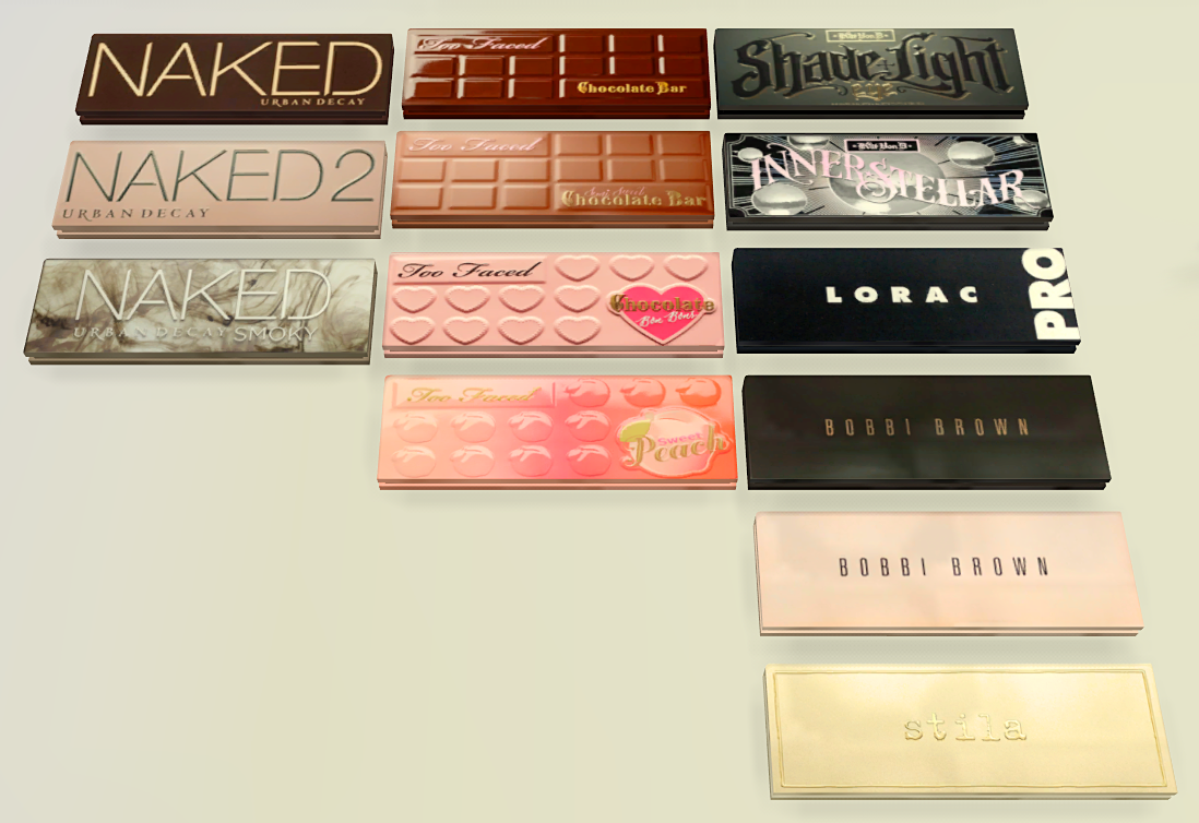 makeup palettes!featured Urban Decay, Too Faced, Kat Von