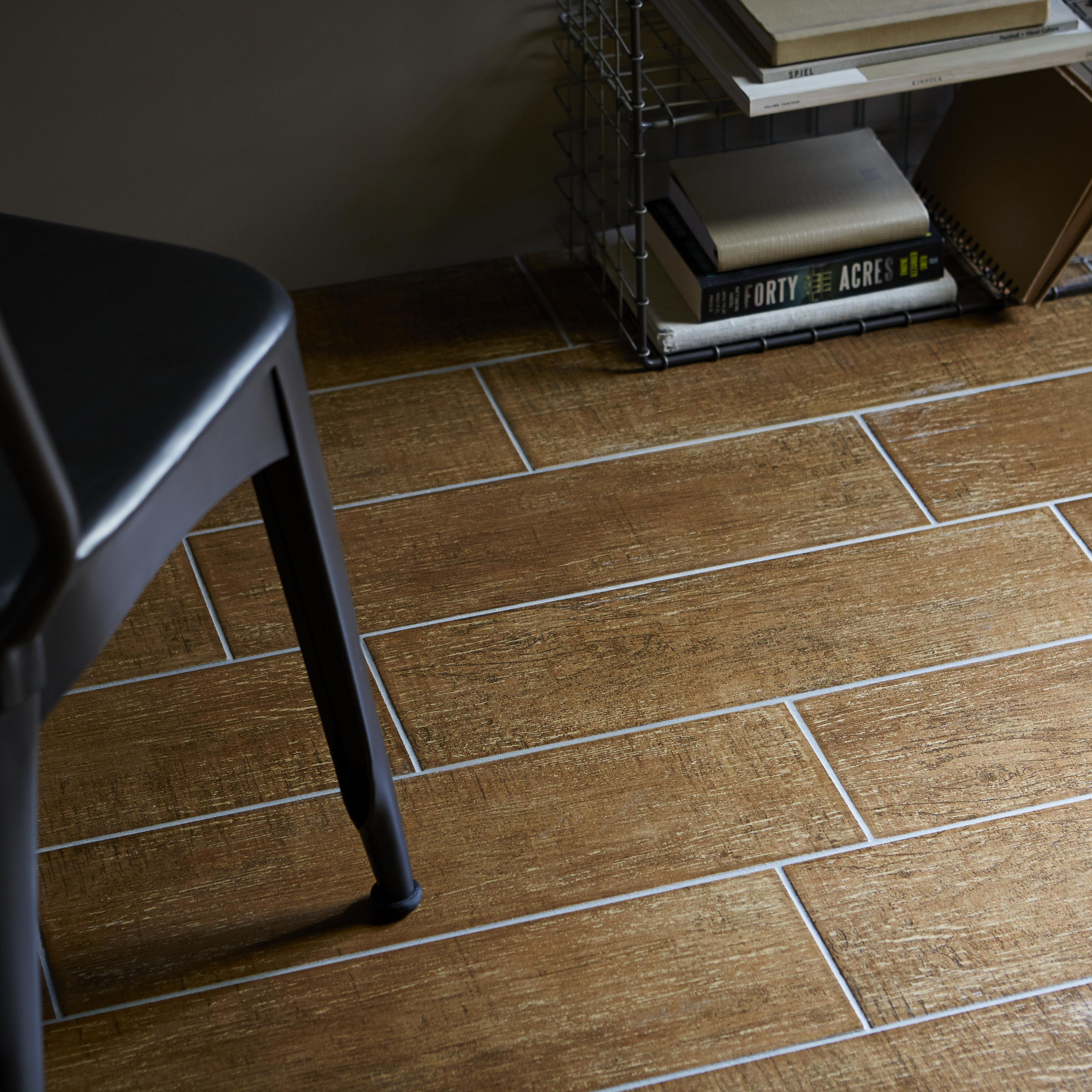 Organik cream walnut effect ceramic wall floor tile pack of 13 organik cream walnut effect ceramic wall floor tile pack of 13 l500mm w150mm dailygadgetfo Images