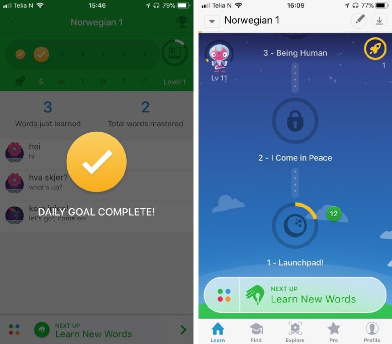 App Review Learn Norwegian With Memrise Gamification App Learning