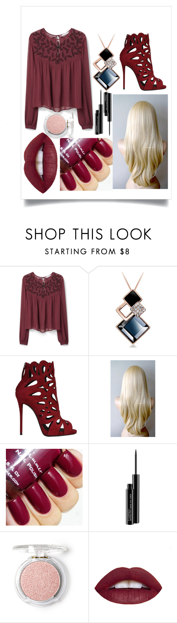 """Maroon 5 concert"" by abbyrali ❤ liked on Polyvore featuring beauty, MANGO, Giuseppe Zanotti, MAC Cosmetics and Love 21"