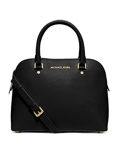 4acba1d7de0ee3 MICHAEL Michael Kors Cindy Medium Dome Satchel in dark dune | Wish ...