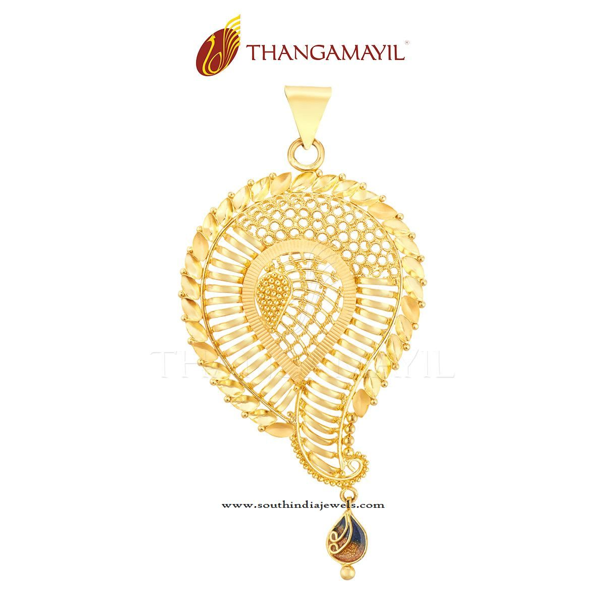22K Gold Designer Gold Pendant | Gold pendant, Pendants and Gold