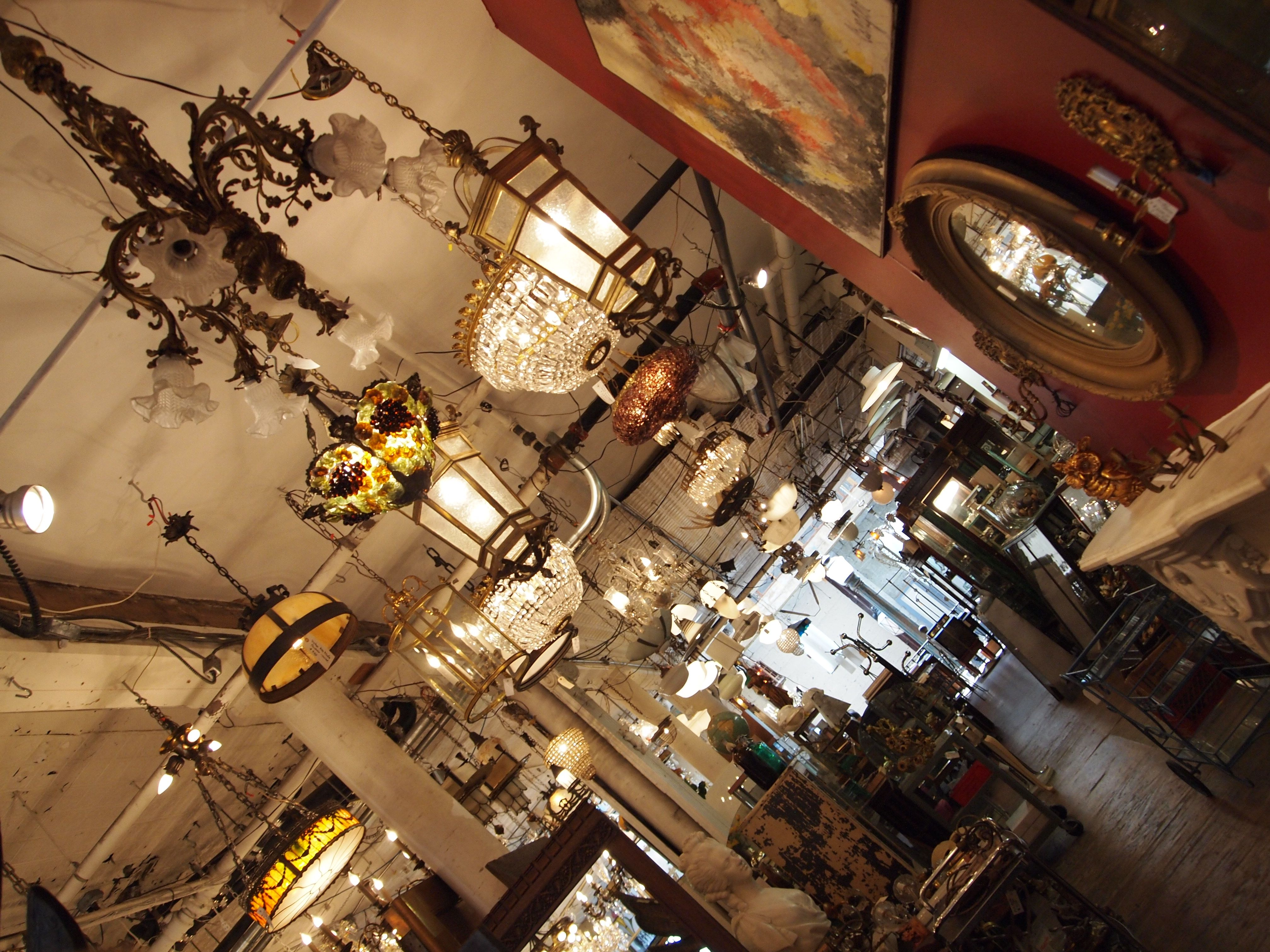 Day 220. Antique shop chandelier love. <3