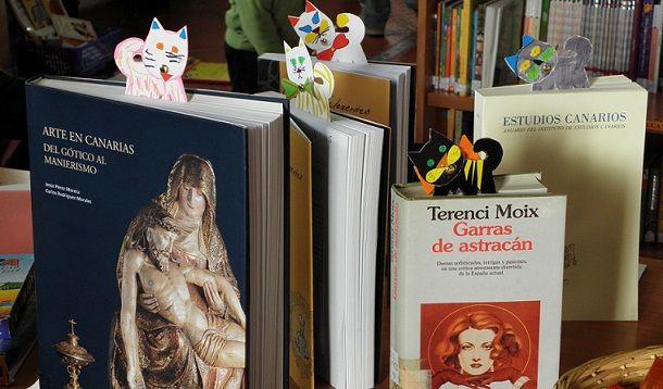 libros y marcapáginas, anterior edición DIA DEL LIBRO PUNTAGORDA
